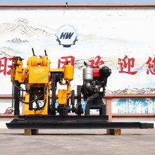 HW-190液压水井钻机 小型农用打井机 鲁恒地质勘探取芯钻机 回转式钻机