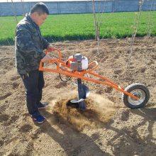 绿化挖坑机 电线杆汽油挖坑机 圣鲁牌