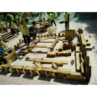 幼儿园炭烧积木 大型碳化积木玩具 山东可凡幼儿园玩教具厂家 实木玩具