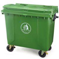 献县鑫建批发生产 660L铁制塑料盖垃圾桶 广场小区街道户外垃圾桶