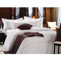 酒店布草厂家生产床旗床尾巾床盖花型款式可定制生产红金顶床上用品