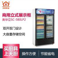 奥华立粤惠凌双门展示柜保鲜柜大容量储物柜