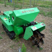 新型大棚开沟施肥机 热销履带式农机 蓝莓园开沟除草机