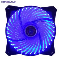 工厂批发蓝色led炫光12cm机箱风扇 33灯流光12V静音台式电脑散热风扇