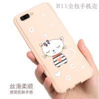 工厂直销OPPO卡通边框式水贴画手机壳 R11全包360PC动物手机硬壳
