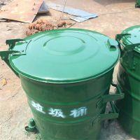 厂家现货特供铁圆桶 挂车垃圾桶 价优物美