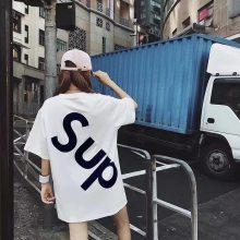 2018库存女装短袖T恤批发 便宜短袖厂家 纯棉女士大板半袖批发货源
