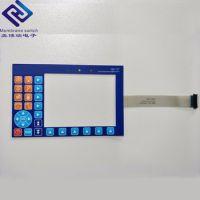框线凸起的按键,带通孔的薄膜开关按键,后面安装LCD显示屏和总控制器