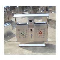 机场候车厅定做的201#不锈钢分类垃圾桶方贸园林设施生产(F-3004