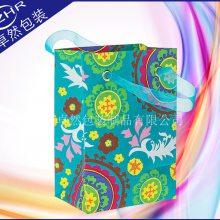 定制服装包装纸袋 白卡纸多色印花纸袋 创意丝带手提礼品购物袋