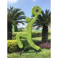 广西哪有仿真绿雕厂家? 绿琴定制 造型奇特仿真绿雕 动物雕塑 树脂制作大型广场公园装饰摆件