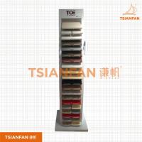 宜度热销款钢材石英石落地展架 单排双排石材展架 SR017-2