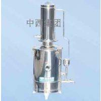 中西(LQS厂家)不锈钢蒸馏水器10L 型号:BZ18-HS.Z68.10库号:M404502