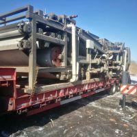 出售污泥浓缩压榨过滤机2.5米--7米 九成新矿产生物煤泥带式过滤机4台