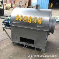 电加热不锈钢滚筒炒锅 家用小型干货翻炒机 电动干货翻炒机