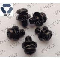 304黑色不锈钢组合螺丝GB9074.8套装螺丝/M2.5/M3/M4LED黑锌螺丝,高盐雾螺丝