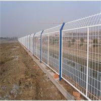 护栏网双边铁丝网 浸塑黄色工业园区隔离栅