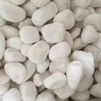 博淼厂家生产白色鹅卵石 机制鹅卵石 洗米石 雨花石 白石子 五彩石