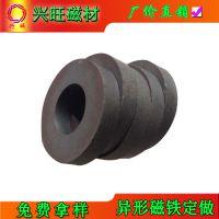 厂家直销铁氧体磁铁 黑色普磁 大磁环 吸铁石Y30圆形磁铁55-25*8