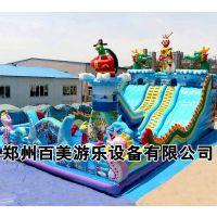 湖南益阳充气蹦蹦床,120平方新款大型充气滑梯造型图片厂家定制报价