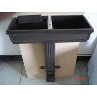 蒂美专业生产K型彩铝排水系统 铝合金成品天沟 金属方形雨水管厂家