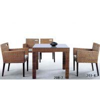 藤格格 203-8 厂家批发现代中式藤艺椅藤编餐椅 藤艺单人椅子 藤餐厅餐椅藤餐厅家具
