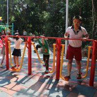 潮州批发零售健身设备厂家 114管共享健身器材 小区铺装器材图