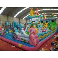 四川自贡天气暖和儿童充气滑梯蹦蹦床厂家