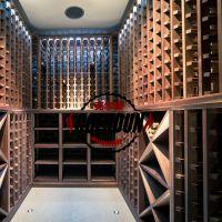 厂家直销实木整体酒窖 定做客厅红酒柜 别墅豪华装饰酒柜定制