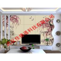 佳德通瓷砖彩雕uv平板打印机艺术瓷砖电视背景墙浮雕喷绘机
