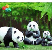 深圳杜克实业玻璃钢熊猫雕塑