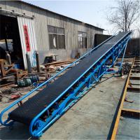 移动式粮食传送机加厚防滑式 定做爬坡式运输机福建