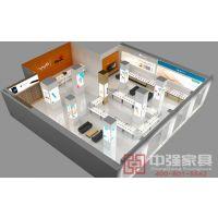 中强展示供应常熟周边精品烤漆手机展示柜台设计制作