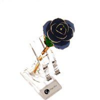 黛雅24K镀金玫瑰花黑色神秘款生日定制表白礼物厂家批发