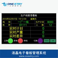一川科技电子看板管理液晶看板嵌入式控制器生产管理方案定制
