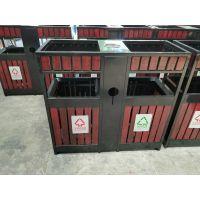 景点特色垃圾桶 青蓝厂家定制钢木果皮箱颜色 多色可选