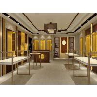 商场玻璃木质烤漆珠宝展柜设计与安装