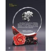 茶花陶瓷奖牌,活动水晶纪念牌,高档陶瓷奖牌,佛山奖牌
