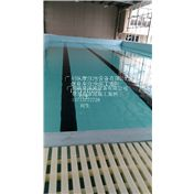 双鸭山市学校体育馆户外大型钢结构拆装式游泳池定制/混凝土泳池PVC防水胶膜施工安装/广州纵康