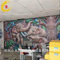 大幅面uv2030竹木纤维板5D背景墙uv平板打印机