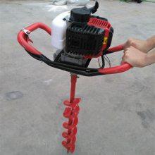 手提汽油螺旋打孔机 多功能立柱打桩机 邦腾汽油挖坑机