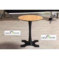 上海韩尔品牌 直销WAGAS餐厅桌子 WAGAS咖啡厅桌子定做 实木圆桌定做