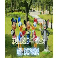 供应香港迪士尼卡通造型雕塑玻璃钢纤维米老鼠模型雕塑