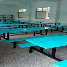 长期供应8人玻璃钢餐桌 学生食堂餐桌 连体食堂餐桌