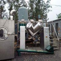 长期供应二手不锈钢V型混合机 电动化学品混合设备