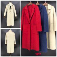 杭州品牌女装菲克双面羊绒大衣库存份货
