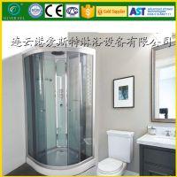 弧扇形整体淋浴房钢化玻璃移门沐卫浴室隔断定制