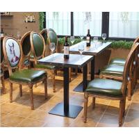 倍斯特定制欧式高档实木餐椅高端会所中餐酒店复古休闲西餐咖啡馆餐椅