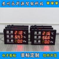 苏州永升源厂家定制 180412-1H温湿度压差显示屏 环境温度露点4-20mA信号0-10V