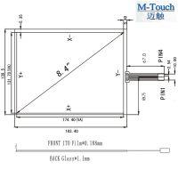M-Touch公模8.4寸4线嵌入式工业平板显示器触摸屏4:3外屏USB接口